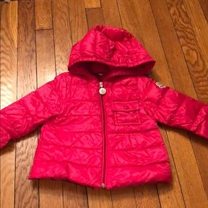 Moncler Baby girls jacket size 9-12 months